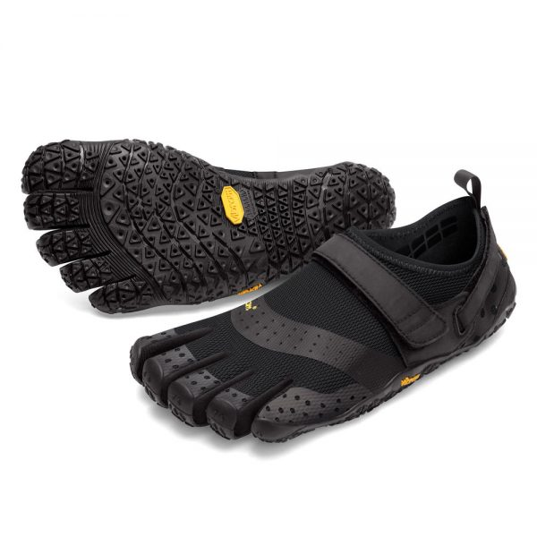 Vibram Men's V-Aqua Black Walking Shoe Main